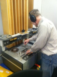 George Blood digitizing original Audio Tape
